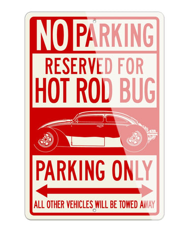 "Volkswagen Beetle ""VolksRod"" Reserved Parking Only Sign"