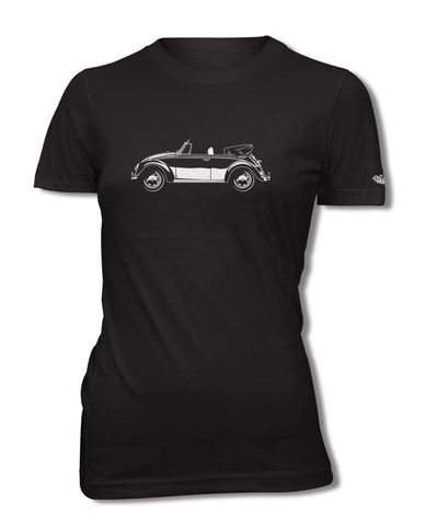 Volkswagen Beetle Convertible T-Shirt - Women - Side View