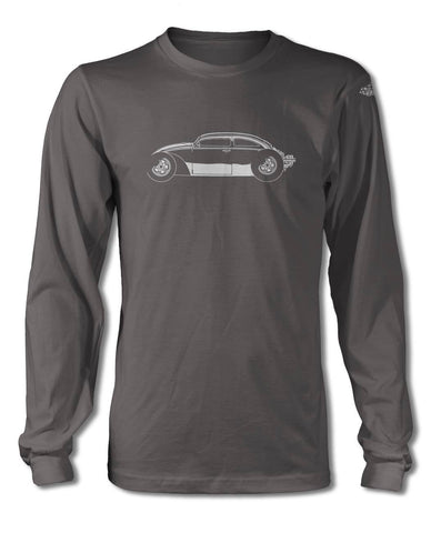 "Volkswagen Beetle ""VolksRod"" T-Shirt - Long Sleeves - Side View"