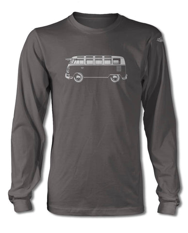 Volkswagen Kombi Bus Samba 21 windows T-Shirt - Long Sleeves - Side View