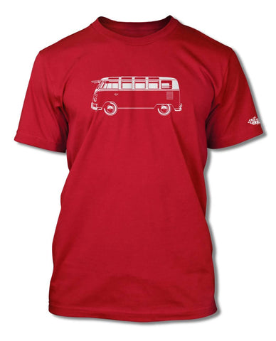 Volkswagen Kombi Bus Samba 21 windows T-Shirt - Men - Side View
