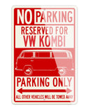 Volkswagen Kombi Bus Microbus Reserved Parking Only Sign