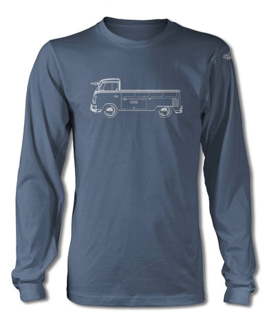 Volkswagen Kombi Utility Pickup Open Bed T-Shirt - Long Sleeves - Side View