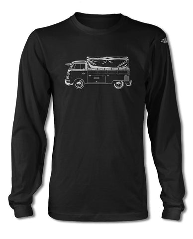 Volkswagen Kombi Utility Pickup Covered Bed T-Shirt- Long Sleeves - Side View