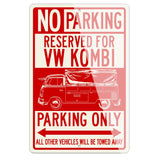 Volkswagen Kombi Utility Pickup Covered Bed Reserved Parking Only Sign
