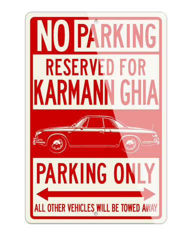 Volkswagen Karmann Ghia Type 34 Reserved Parking Only Sign
