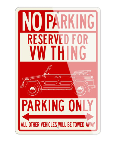 Volkswagen The Thing Reserved Parking Only Sign