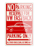 Volkswagen Type 3 Fastback Reserved Parking Only Sign