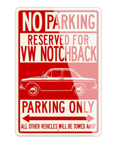 Volkswagen Type 3 1500 Notchback Reserved Parking Only Sign