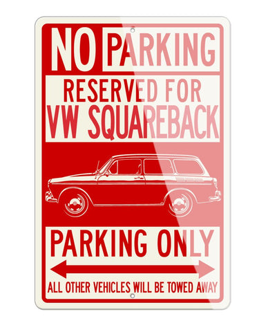 Volkswagen Type 3 Squareback Reserved Parking Only Sign