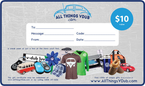 $10 All Things Vdub Gift Card