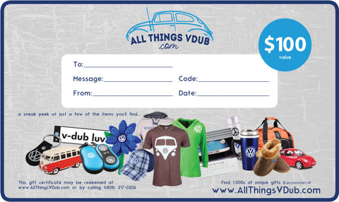 $100 All Things Vdub Gift Card