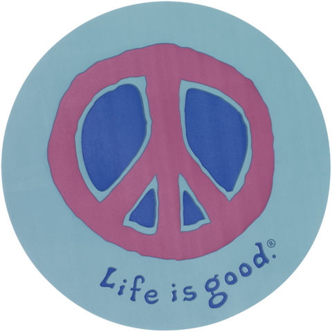 "Life is Good ""Elemental PEACE"" Sticker (4"" round)"