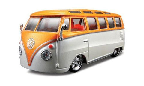 "1:25 AllStars VW Van ""Samba"" Miasto Diecast, Orange/White"