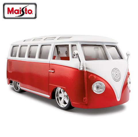 "1:25 AllStars VW Van ""Samba"" Miasto Diecast, White/Red"