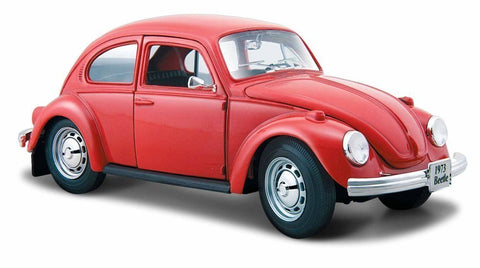 1:24 VW Classic Beetle Diecast, Red