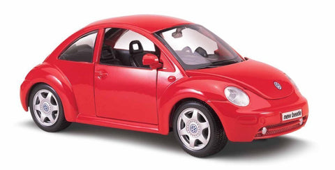 Red 1:25 VW New Beetle Diecast