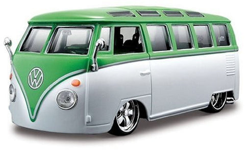 "1:25 Assembly Line VW Van ""Samba"" Model Kit, Green/White"