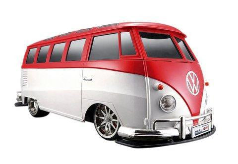 "Maisto Tech R/C 1:10 VW Van ""Samba"", Red/White"