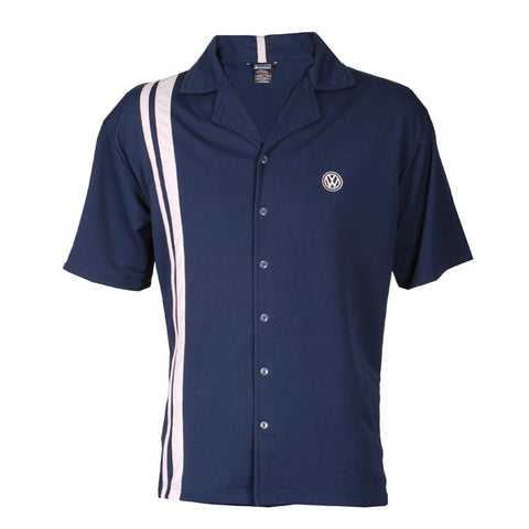 VW Navy/Silver Button Up Shirt