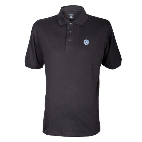 VW Black Edry Double Knit Polo