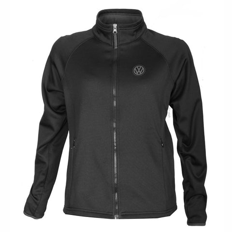 VW Ladies Black Poly Fleece