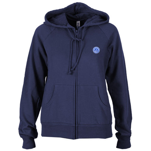 VW Ladies Navy Raglan Fleece