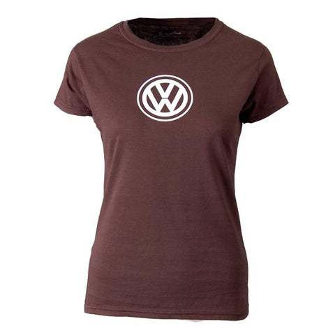 VW Ladies Anywhere Tee, Chocolate