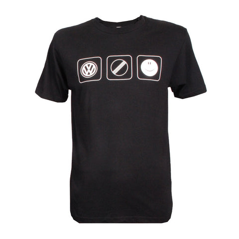VW Black VW Autobahn Happy Tee, Black