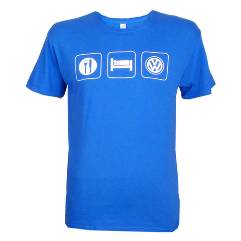 Eat Sleep VW Tee, Royal Blue