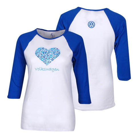 VW Ladies Luv Tee, Blue/White