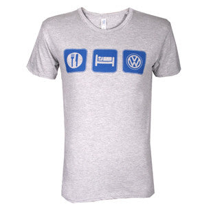 Eat Sleep VW Tee, Sport Grey