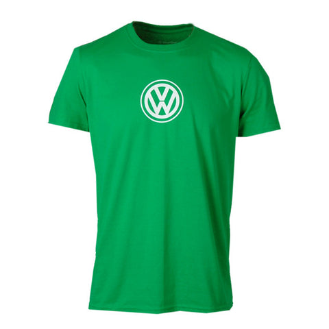 VW Logo Tee, Heather Irish Green