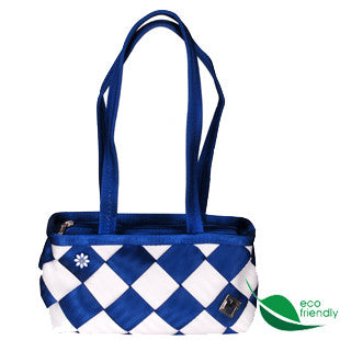 VW Royal/White Seatbelt Purse