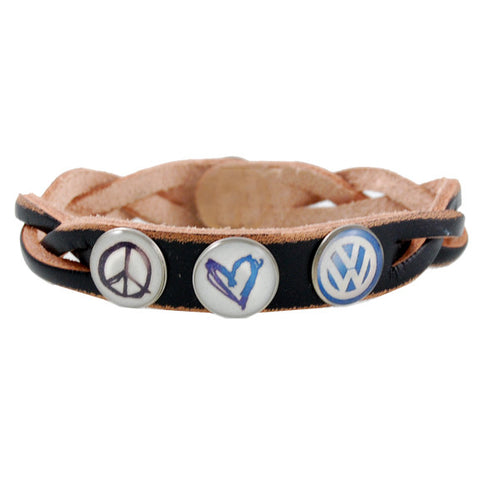 Peace Luv VW Bracelet