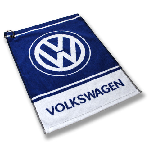 VW Blue Custom Golf Towel