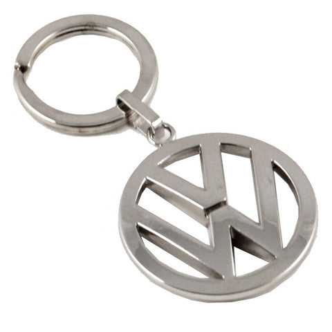VW Polished Metal Keytag