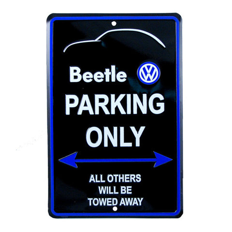 VW Beetle Parking Only Sign
