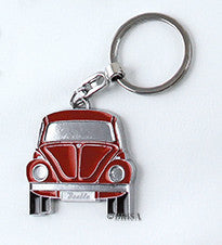 VW Beetle Key Ring Red