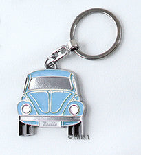 VW Beetle KeyRing Blue