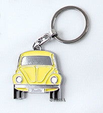 VW Beetle Key Ring Yellow