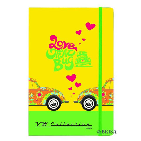 VW Beetle Notebook Flower