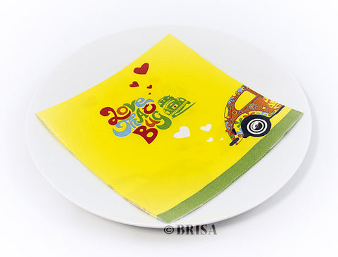 "VW Beetle Design Napkin Set - ""Love That Bug"""