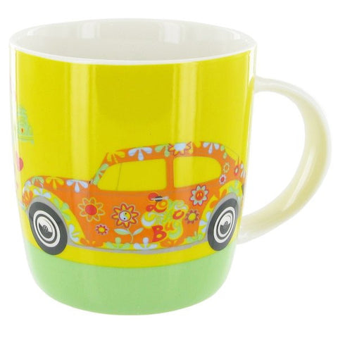 VW Beetle Mug Flower