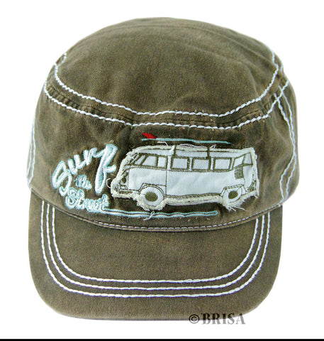 VW T1 Surf the Streets Military Cap, Olive