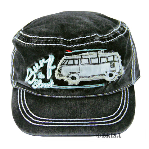 VW T1 Surf the Streets Military Cap-Black