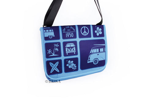 VW Bus T1 Messenger Bag -  Blue