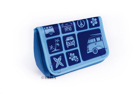 VW Bus T1 Neoprene Toiletry Bag - Blue