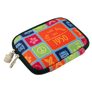 VW Bus T1 Neoprene Zipper Wallet - Vintage Colors