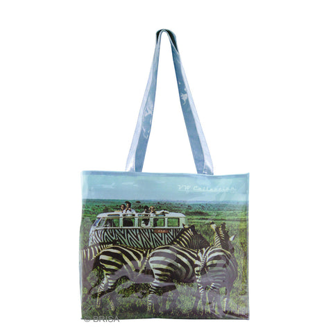 VW Bus T1 Shopper Tote Bag Safari